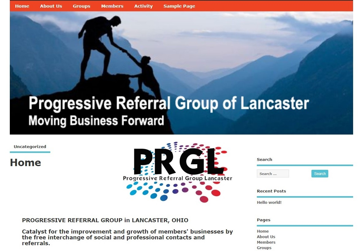 PGRL website home page1